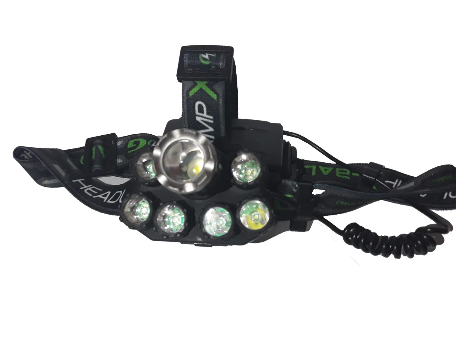 Image of Lanterna frontala High Power cu 7 surse de iluminare T6 XPE