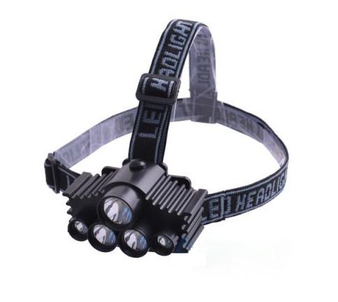 Image of Lanterna frontala cu 5 LED-uri Bailong BL 915