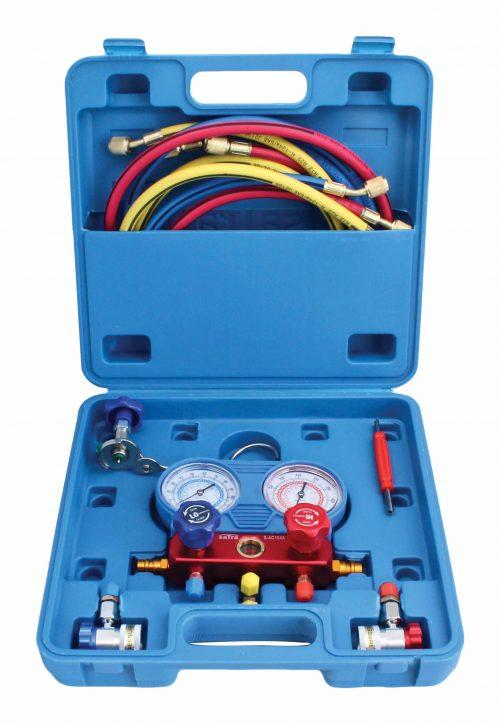 Image of Trusa testare aer conditionat kit manometre verificare incarcare freon