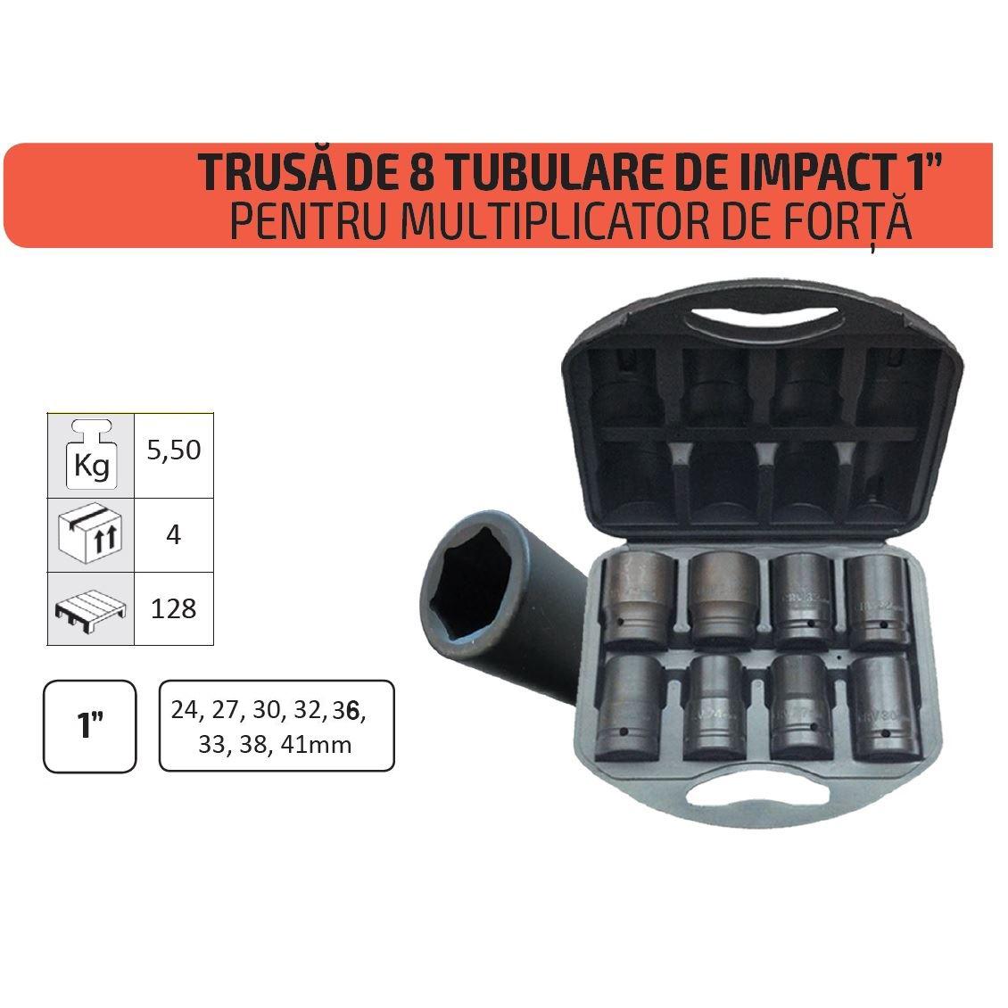 Image of Trusa 8 tubulare camion tir de impact prindere 1 tol marime 24-41mm