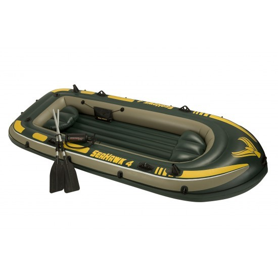 Image of Barca gonflabila pentru 4 persoane Seahawk IV Intex 68351