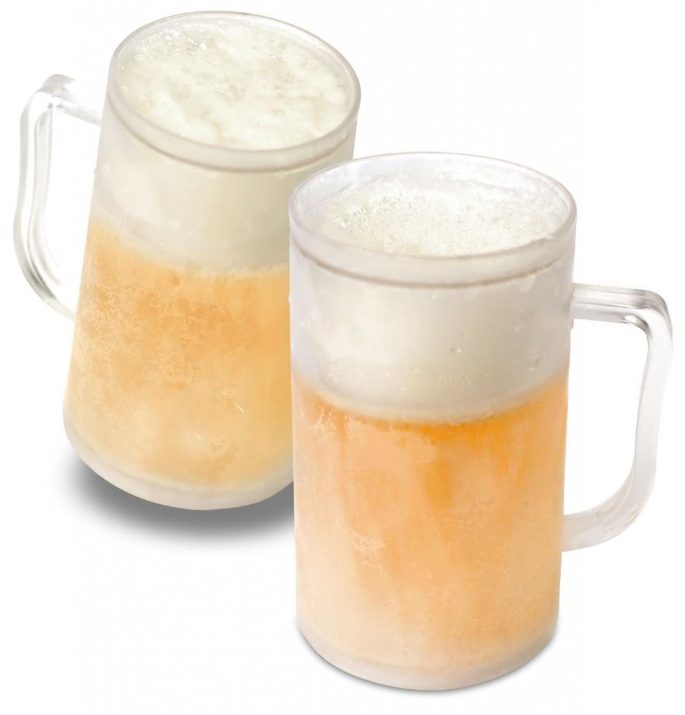 Set 2 Halbe de bere, cu pereti dubli pentru racire
