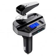 Kit modulator MP3 + Handsfree casca bluetooth cu functie de incarcare rapida