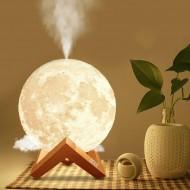 Lampa de veghe si umidifcator pentru camera tip Luna, Moon Lamp 3D