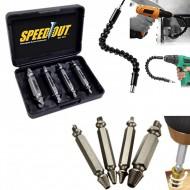 Pachet promotional, Set 4 extractoare suruburi, Speed Out + Prelungitor flexibil pentru bormasina, cap magnetic.