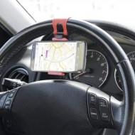 Suport auto pentru telefon cu prindere pe volan