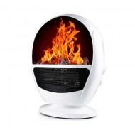Aeroterma Electrica, Flame Heater, Tip semineu cu simulare flacari, 1500 W