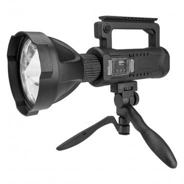 Lanterna LED, reincarcabila, functie Powerbank, 4 moduri iluminare, trepied inclus