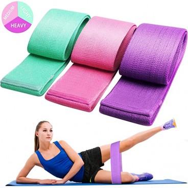 Set 3 benzii elastice pentru fitness, 3 nivele de rezistenta