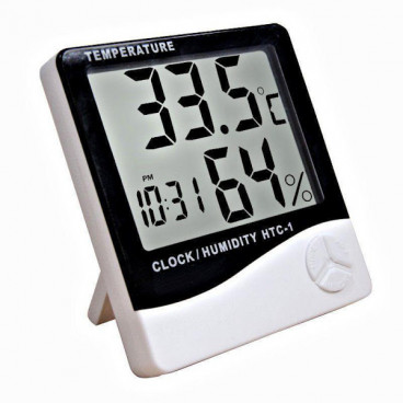 Ceas digital cu functie de Termohigrometru, Alarma si Calendar
