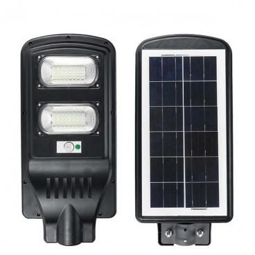 Lampa cu panou solar , senzor de miscare si comutator de noapte,60W