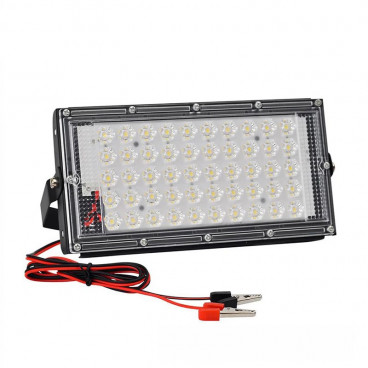 Lampa de lucru cu 50 LED-uri SMD, alimentare prin clesti 12V