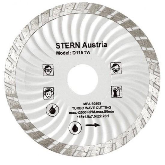Image of Disc diamantat Turbo Stern D115TW pentru polizor