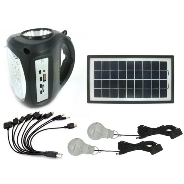 Image of Kit Panou Solar GDLite GD8009 cu Acumulator, USB, Radio si Lumini