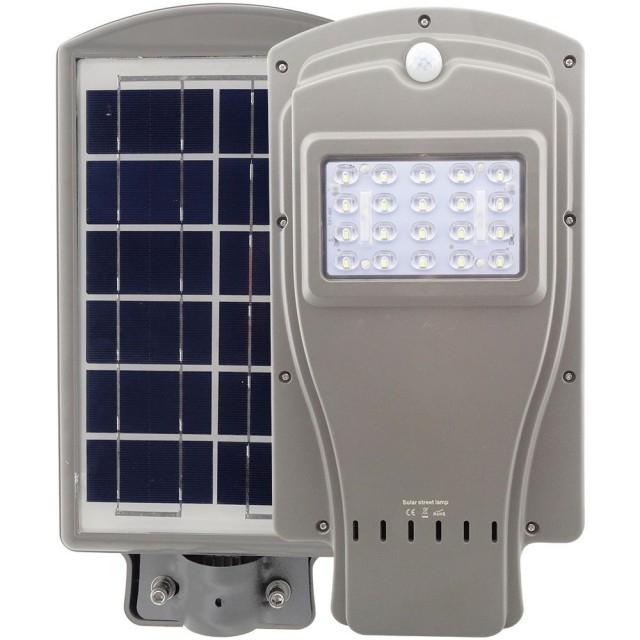 Image of Lampa stradala LED 20 W cu panou solar si senzor de lumina