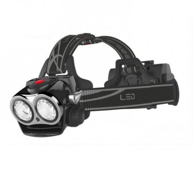 Image of Lanterna LED bicicleta frontala multifunctionala cu 3 faze