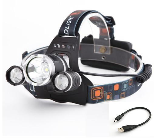Image of Lanterna frontala LED 3 in 1 T6 50000W