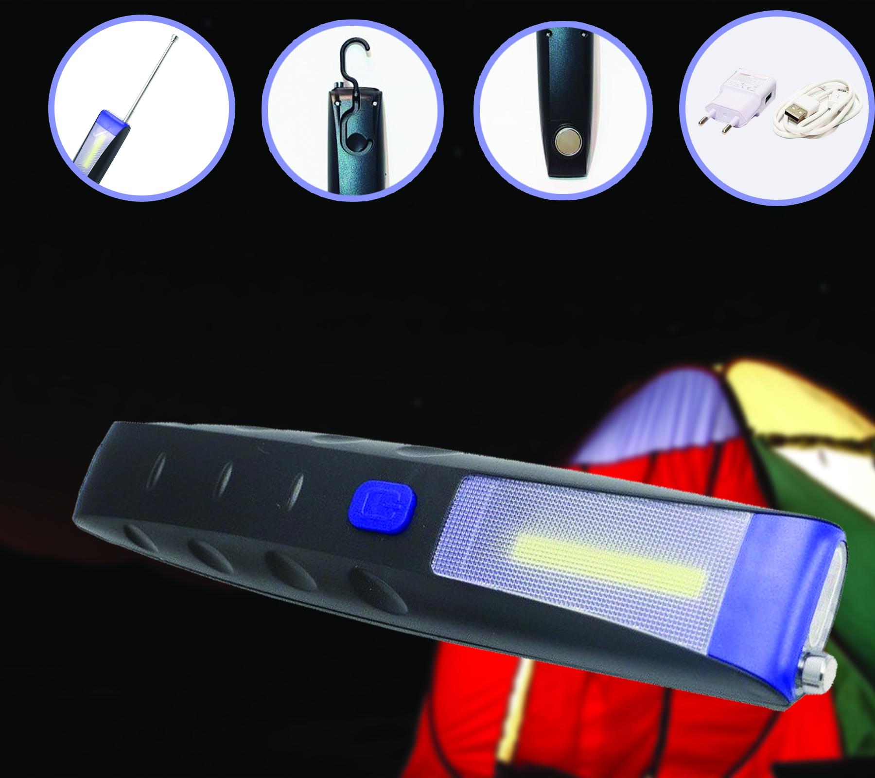 Image of Lanterna multifunctionala LED cu acumulator pentru camping sau auto