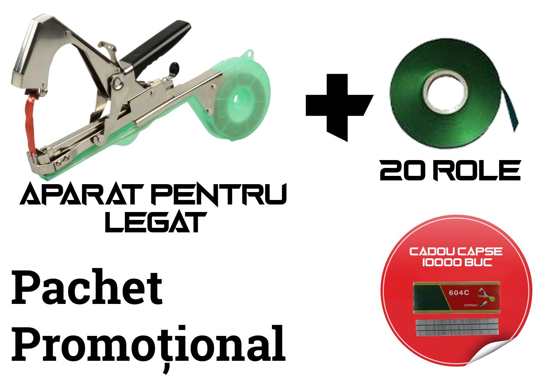 Image of Pachet promotional dispozitiv pentru legat plante si vita de vie + 20 de role + 10.000 capse CADOU