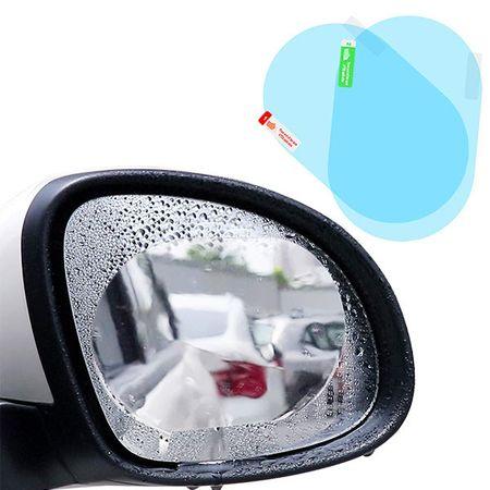 Image of Folie protectie anti-ceata, anti-ploaie pentru oglinda retrovizoare 2 bucati