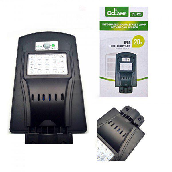 Image of Lampa stradala LED 20 W cu panou solar si senzori IP65