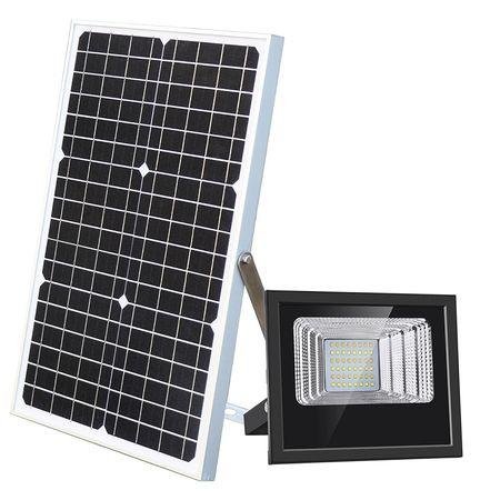 Image of Proiector stradal 80 W, Panou Solar, Telecomanda, IP67