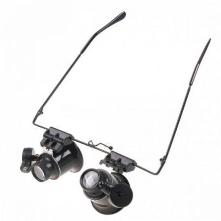 Image of Ochelari cu magnifiere 20x lupa si LED