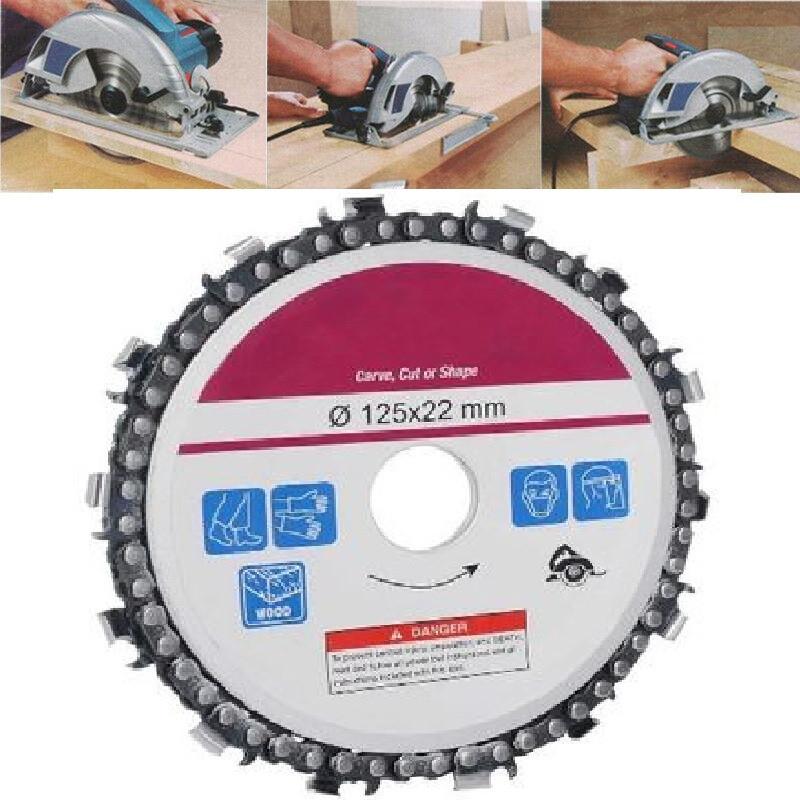 Image of Disc flex lemn cu lant drujba, polizor unghiular, diametru 125 mm