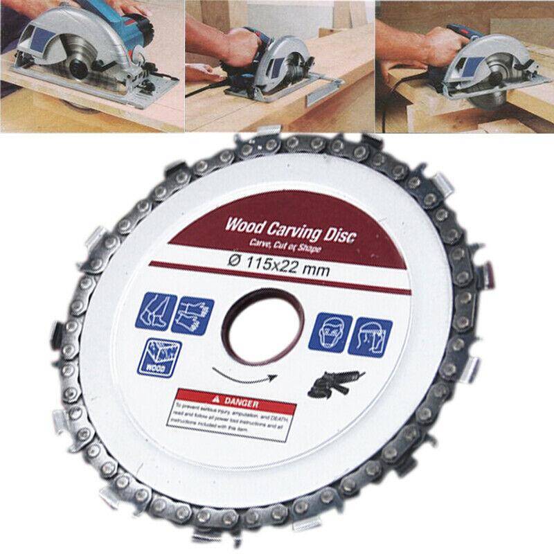 Image of Disc flex lemn cu lant drujba, polizor unghiular, diametru 115 mm