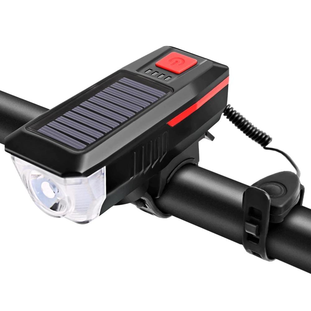 Image of Lanterna 2in1 pentru bicicleta reincarcabila cu LED si alarma